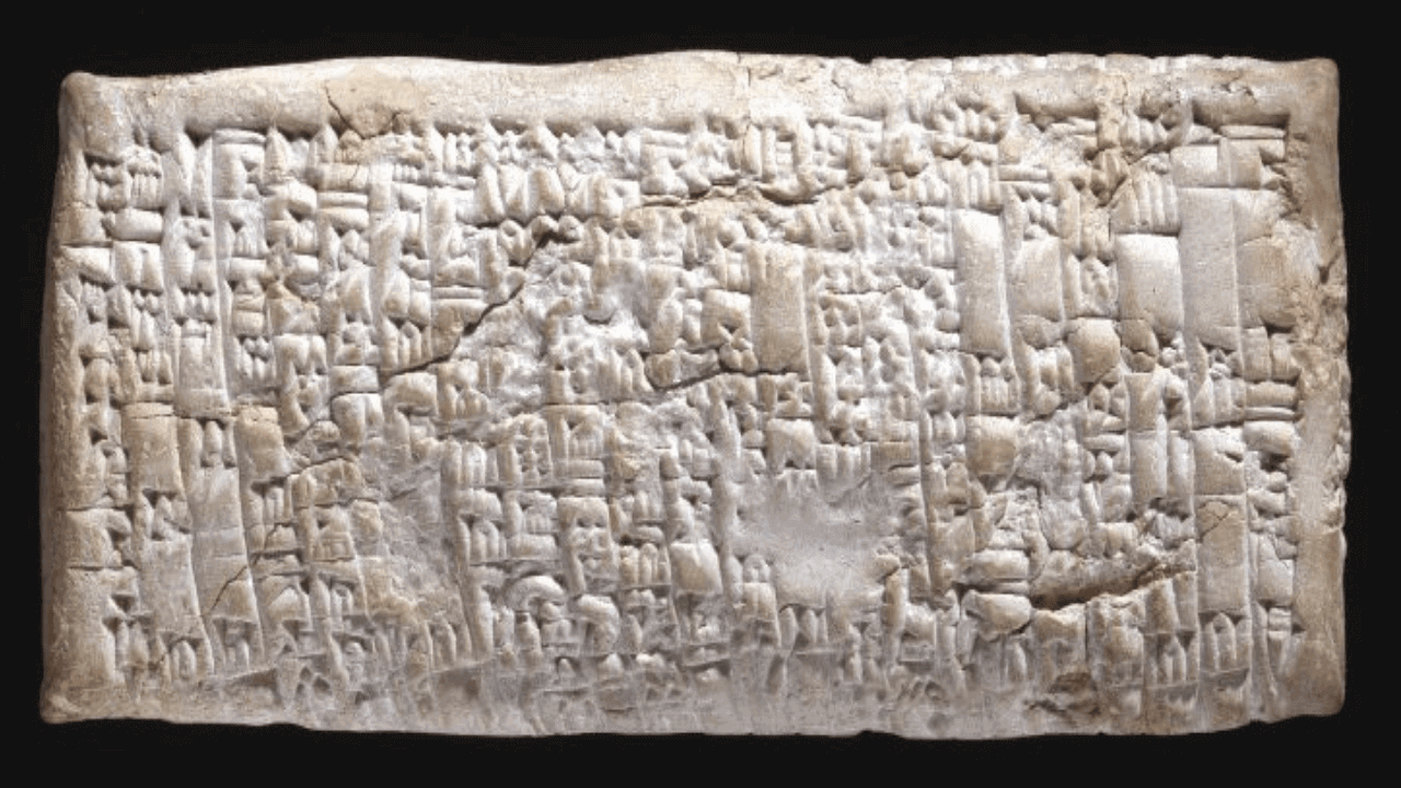 """The """"Ea-Nasir complaint board"""" carved in 1750 B.C. -"""