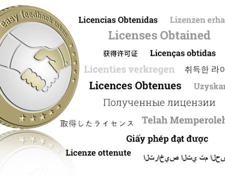Licencias obtenidas para la venta de Easy Feedback token