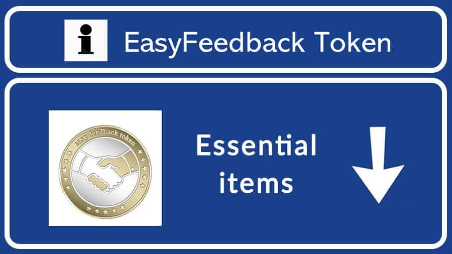 Easy-Feedback-Token-Essential-items