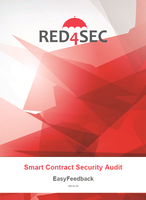 The image is the cover of the smart contract audit